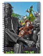 Bear And His Mentors Walt Disney World 03 Spiral Notebook
