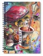 Bear On Bourbon Spiral Notebook