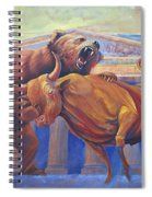 Bear Vs Bull Spiral Notebook