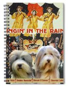 Bearded Collie Art Canvas Print - Singin In The Rain Movie Poster Spiral Notebook