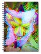 Bearded Iris Cultivar - Use Red-cyan 3d Glasses Spiral Notebook