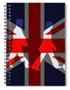 Beatles Abbey Road Flag Spiral Notebook
