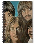 Beatles The Fab Four Spiral Notebook