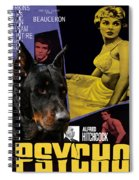 Beauceron Art Canvas Print - Psycho Movie Poster Spiral Notebook