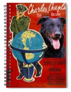 Beauceron Art Canvas Print - The Great Dictator Movie Poster Spiral Notebook