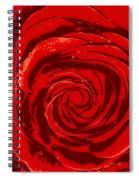 Beautiful Abstract Red Rose Illustration Spiral Notebook