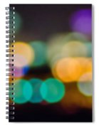 Beautiful Background On Dark Out Of Focus Lights During The Nig Spiral Notebook