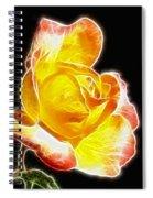 Beautiful Blooming Yellow Rose Spiral Notebook
