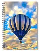 Beautiful Blue Hot Air Balloon Spiral Notebook