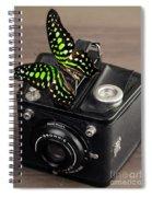 Beautiful Butterfly On A Kodak Brownie Camera Spiral Notebook