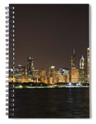Beautiful Chicago Skyline With Fireworks Spiral Notebook