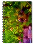 Beautiful Colored Glass Ball Hanging On Tree 2 Spiral Notebook
