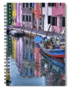 Beautiful Colors Of Burano Spiral Notebook