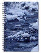 Beautiful Creek In Winter In Stanley Idaho Spiral Notebook