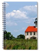 Beautiful Day At East Point Lighthouse  Spiral Notebook