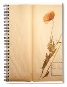 Beautiful Dried Vintage Flowers Spiral Notebook