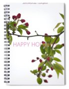 Beautiful Floral Greetings Spiral Notebook