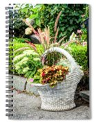 Beautiful Flowers In Basket Spiral Notebook