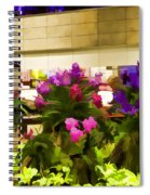 Beautiful Flowers Inside The Changi Airport Spiral Notebook