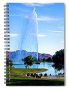 Beautiful Fountain Spiral Notebook