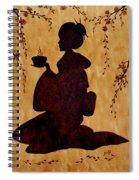Beautiful Geisha Coffee Painting Spiral Notebook