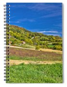 Beautiful Green Hill With Vineyard Cottages Spiral Notebook