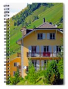 Beautiful House In Mont Blanc Spiral Notebook