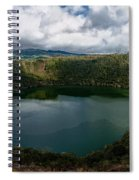 Beautiful Lake Guatavita Spiral Notebook