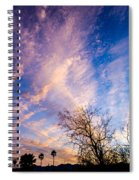 Beautiful Morning Sunrise Clouds Across The Sky Spiral Notebook