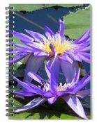 Beautiful Purple Lilies Spiral Notebook