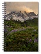 Beautiful Rainier Wildflower Meadows Spiral Notebook