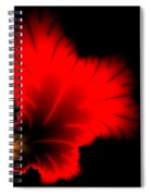 Beautiful Red And Yellow Floral Fractal Artwork Square Format Spiral Notebook