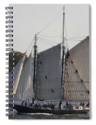 Beautiful Sailboat In Manhattan Harbor Spiral Notebook