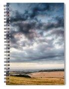 Beautiful Skies Over Farmland Spiral Notebook