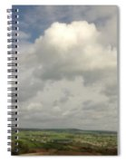 White Clouds Over Yorkshire Dales Spiral Notebook