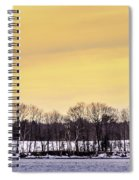 Beautiful Sky Just Before Sunset Spiral Notebook