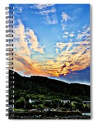 Beautiful Sky Over The Harbour Digital Painting Spiral Notebook