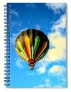 Beautiful Stripped Hot Air Balloon Spiral Notebook