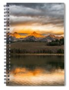 Beautiful Sunrise On Little Redfish Lake Spiral Notebook