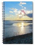 Beautiful Sunset Iowa River Spiral Notebook