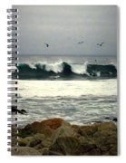 Beautiful Waves On The Monterey Peninsula Spiral Notebook
