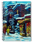 Beautiful Winter Evening Spiral Notebook