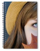 Young Woman And Leaf Spiral Notebook