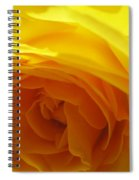 Yellow Rose Macro Spiral Notebook