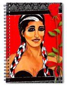 Beauty And Flowers 2 Spiral Notebook