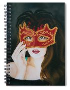 Beauty And The Mask Spiral Notebook