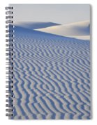 Patterns White Sands New Mexico Spiral Notebook
