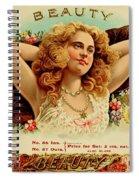 Beauty Vintage Cigar Advertisement  Spiral Notebook