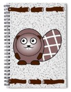 Beaver - Animals - Art For Kids Spiral Notebook