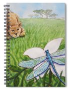 Beckoning The Little Predator To Come Closer Spiral Notebook